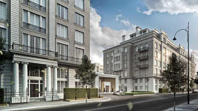 Жилой квартал Knightsbridge Private Park ЖК состоит из 4 элитных жилых домов